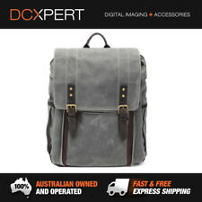 ONA The Camps Bay Backpack Smoke Accessories SLR 7 Lenses Leather Camera Bag