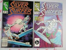 Vintage Collectible Marvel Silver Surfer #2 & #14 Lot of 2  Bagged & Boarded NM+