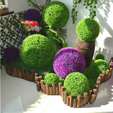 Simulation Plastic Topiary Hanging Plant Garland Green Grass Ball Home Decor LB