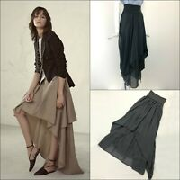 Brunello Cucinelli Women Silk High Waisted Long Maxi Skirt Size S IT40 US2 4
