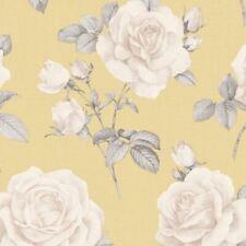 Belgravia Decor Rosa Blumen Tapete Blumen Senf Gelb 9765