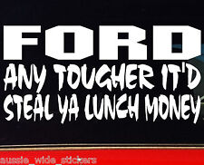 LUNCH FORD ba ute wagon Funny Car Stickers 200mm