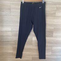 Nike Women's Sz M (8-10) Full Length Compression Leggings Navy Blue