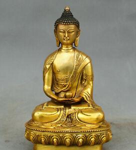 Buddhism old Bronze Amitabha Sakyamuni Buddha Tathagata Buddha Padmapani Statue