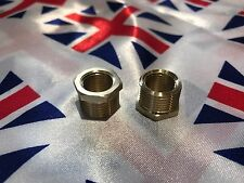 "⭐⭐British Bike BSA Made In England Brass 3/8"" To 1/4"" ⭐⭐ Fuel Tap Adaptor"