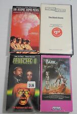 Lot of 4 VHS Horror Video Tapes: Halloween II, The Dark, Atomic Bomb Movie,