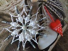 Handmade Beautiful Christmas Ornament Beaded Snowflake Decoration Christmas Tree