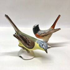 W. Goebel Bird Figurines, Redstart & Yellow Wagtail
