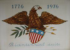 """Bicentennial suite 1776 1976 USA"" Lithographie signée Emil WEDDIGE"