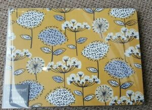 Cooksmart Retro Meadow Collection placemats set of four yellow /ochre / grey