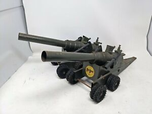 Pair (2) 1950s Big Bang Cannon No.15 CC Chargers Phosphorus Cannons Army Green