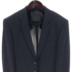 SANDRO Paris Men's 40R 2 Button Blazer Unlined Navy Blue Summer 100% Wool NWOT