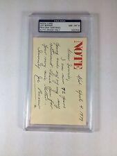 Joe Besser, Three Stooges Autograph Slabbed 3X5 Index Card PSA Graded 8 NM-MT