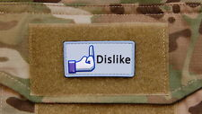 3D PVC Facebook Dislike morale patch Army Military
