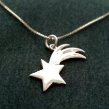 925 Plata de Ley Estrella Fugaz Collar Cadena Colgante Mujer Regalo Joyería