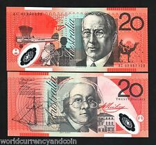 AUSTRALIA 20 DOLLARS P59 2002 CAMEL SHIP PLANE POLYMER UNC CURRENCY MONEY NOTE