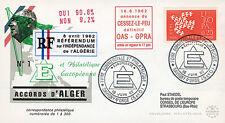 "ALG3A FDC ""DE GAULLE - Alger Accords & Application cease-fire in Algeria"" 1962"