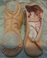 Ballet pink Capezio leather split sole daisy ballet shoes