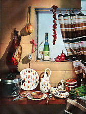 Amber-Glo STANGL POTTERY Featured on original 1954 Magazine Page FRAMABLE!