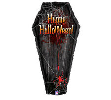 Halloween Holographic Vampire Coffin 3 ft  Foil Balloon