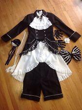 Anime Black Butler Ciel Phantomhive Black Ballroom Cosplay Costume, S/M