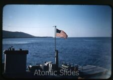 1950s red border Kodachrome Photo slide US navy Guantanamo Bay base Cuba #8 ship