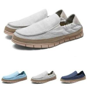 Mens Canvas Pumps Slip on Loafers Shoes Driving Moccasins Comfy Breathable New D