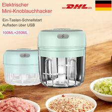 Elektrisch Zerkleinerer Knoblauchhacker Obst Zwiebelschneider 250ML + 100ML DE
