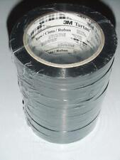 """8 Rolls 3M Strapping Tape 860 Black Tartan 19mmX55m  3/4""""x60Yds NEW Italy Made"""
