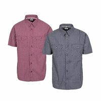Trespass Uttoxeter Mens Short Sleeve Cotton Casual Shirt Summer Top With Buttons