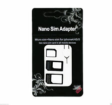4 in 1 Nano to Micro Standard SIM Card Adapter Converter Mobile iPad Tablet Key