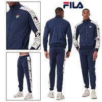 FILA Mens Classic Logo Gatlin Stripe Track Jacket Or Greene Stripe Track Pant