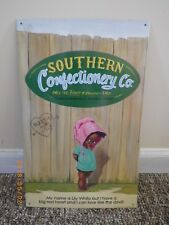 Art Metal Sign AAA Co Coitsville OH Lily Southern Nuts Chocolates Rare Alabama