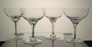 """EXQUISITE BELFOR BOHEMIA Champagne 5"""", SET of FOUR, Multi Sets Avail"""