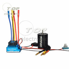Waterproof 3900KV Brushless Motor 45A 60A 80A 120A ESC for 1/10 RC Car Truck