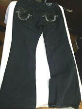 True Religion Black Studded Bootcut Jeans 34W x 32L