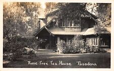 Real Photo Postcard Rose Tree Tea House in Pasadena, California~110695