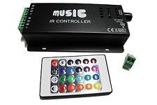 144W IR Sound Sensor Music Remote Controller for 3528 5050 RGB LED Strip Light