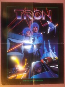 """TRON Promotional Movie Poster (folded) 1982 - 17"""" X 22"""""""