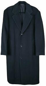 Hugo Boss De Tomaso 40R Overcoat Top Coat Charcoal Gray Wool
