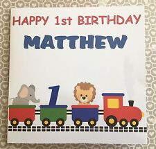 Personalised Birthday Card,  1st 2nd 3rd Birthday card, Train design