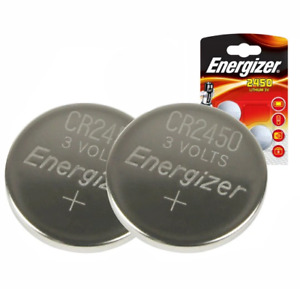 2 x Energizer CR2450 3V Lithium Coin Cell Batteries 2450. 046