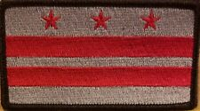 Washington DC Flag Patch W/ VELCRO® Brand Fastener Tactical Military Black #7