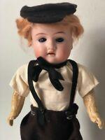 """Unidentified Antique German Bisque Head 11"""" Doll   marked Dep 201 13/0"""