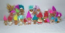 New ListingVintage Russ Novelty Troll Dolls Lot of 24 dolls Various Sizes and Outfits