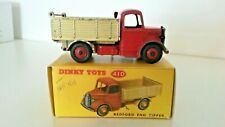 Dinky Toys Vintage Meccano LTD No.410 Bedford End Tipper 1954-61 mit Repro Box