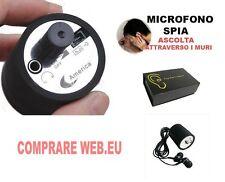 MICROFONO DA MURO O PARETI, EAR LISTENS, MICROSPIA SPY, AMPLIFICATORE DA MURO