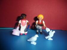 Playmobil Kinder mit Zubehör zum Puppenhaus / Rosa Serie
