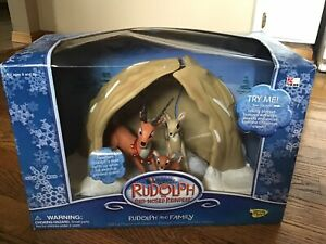 RUDOLPH The Red Nosed Reindeer Figures Playset * DONNER Memory Lane LIGHTS SOUND