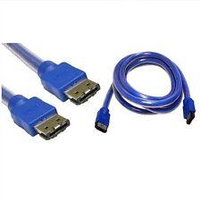 1.5 m Esata A Esata 6 GB de datos Plomo Externo Sata 3 Cable Blindado Azul